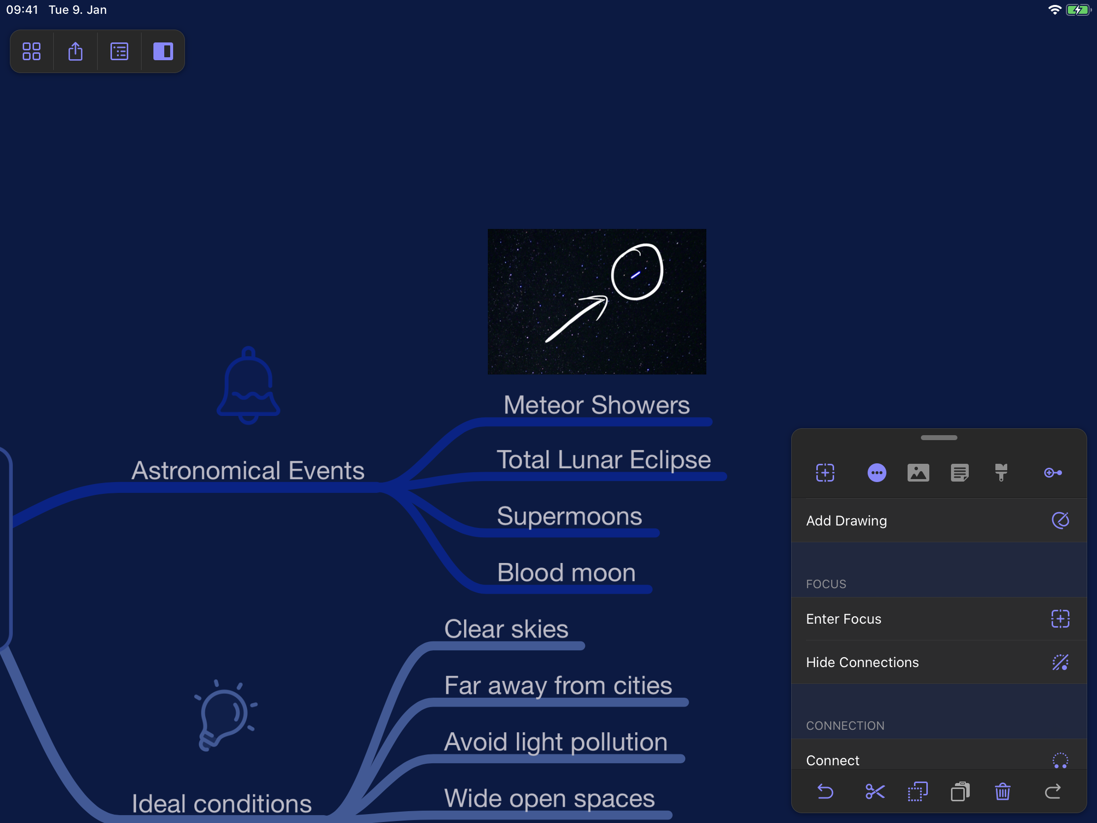 Annotating Images and Drawing in MindNode 6.1