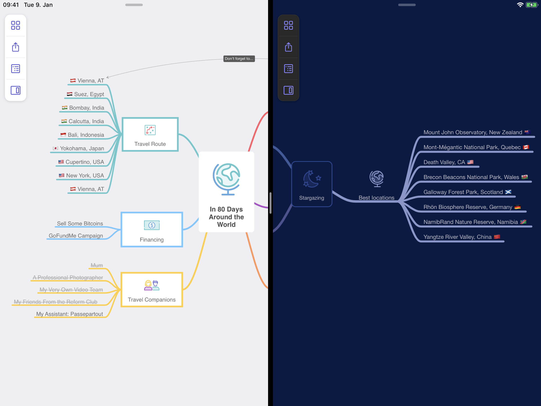 MindNode 6.1 Multiple Documents in iPadOS 13